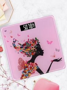 Floral Print Digital Weight Scale
