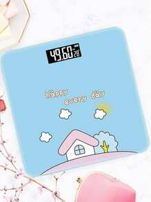 Cartoon Graphic Digital Weight Scale