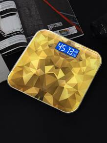 Geometric Pattern Digital Weight Scale