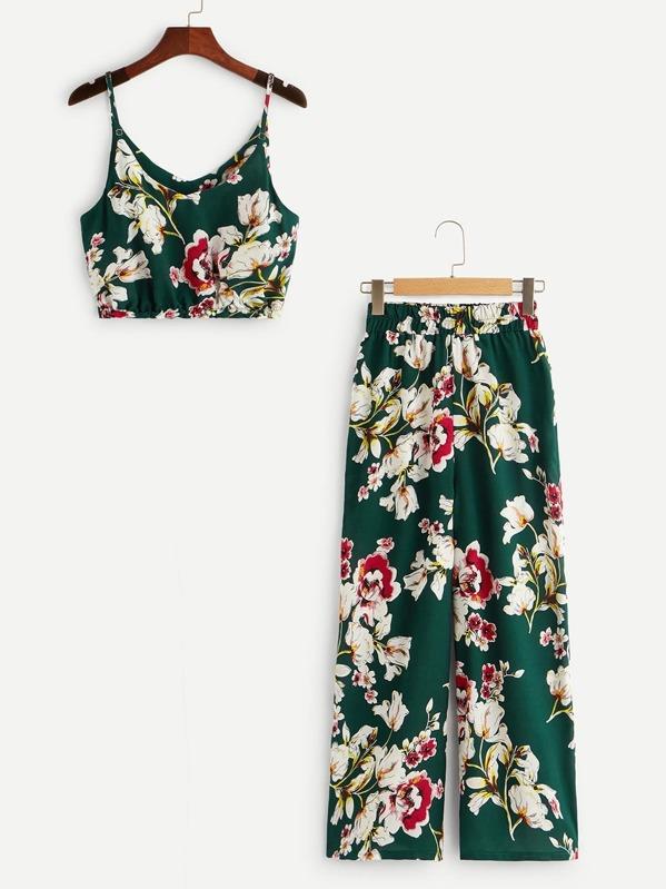 2522805f8a5 Floral Print Cami Top   Pants