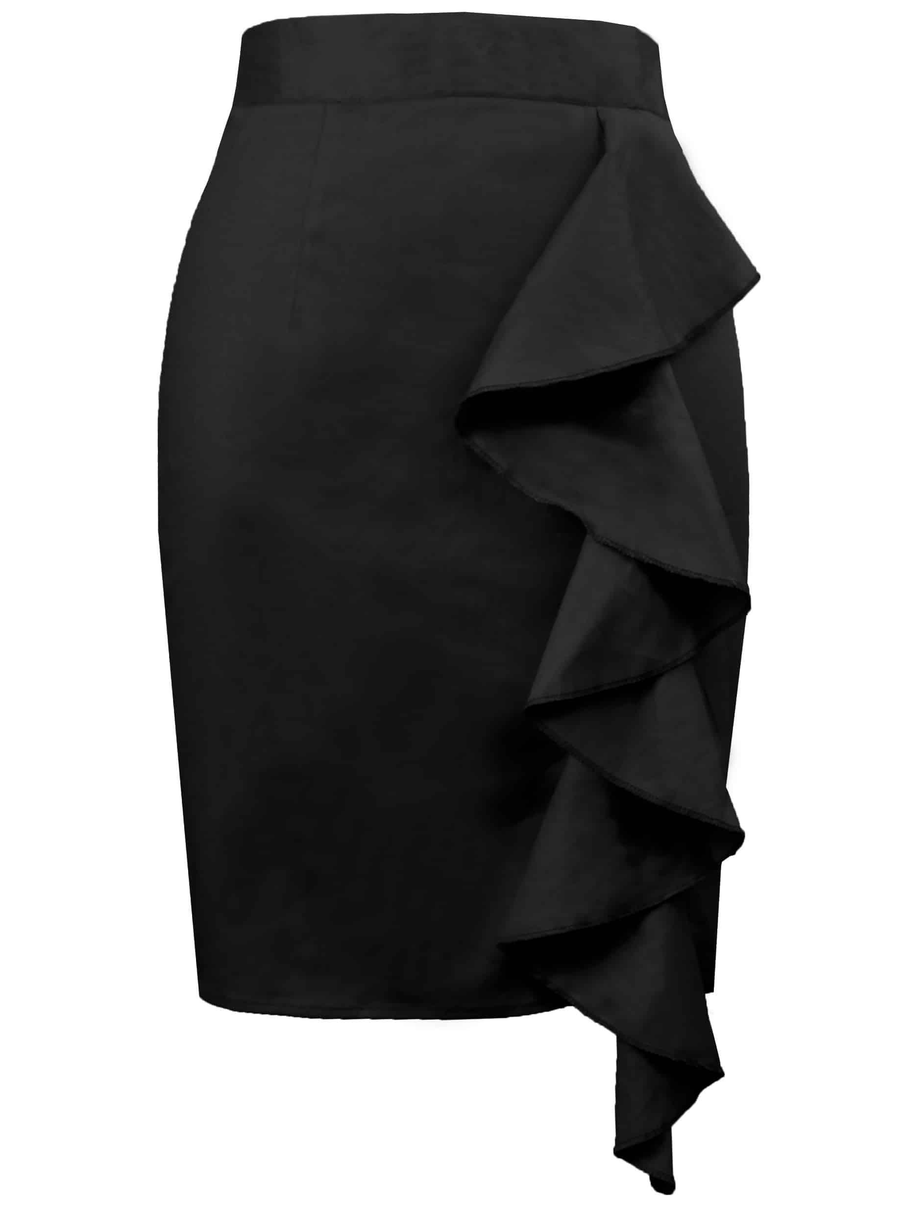 50s юбка карандаш с оборками thumbnail