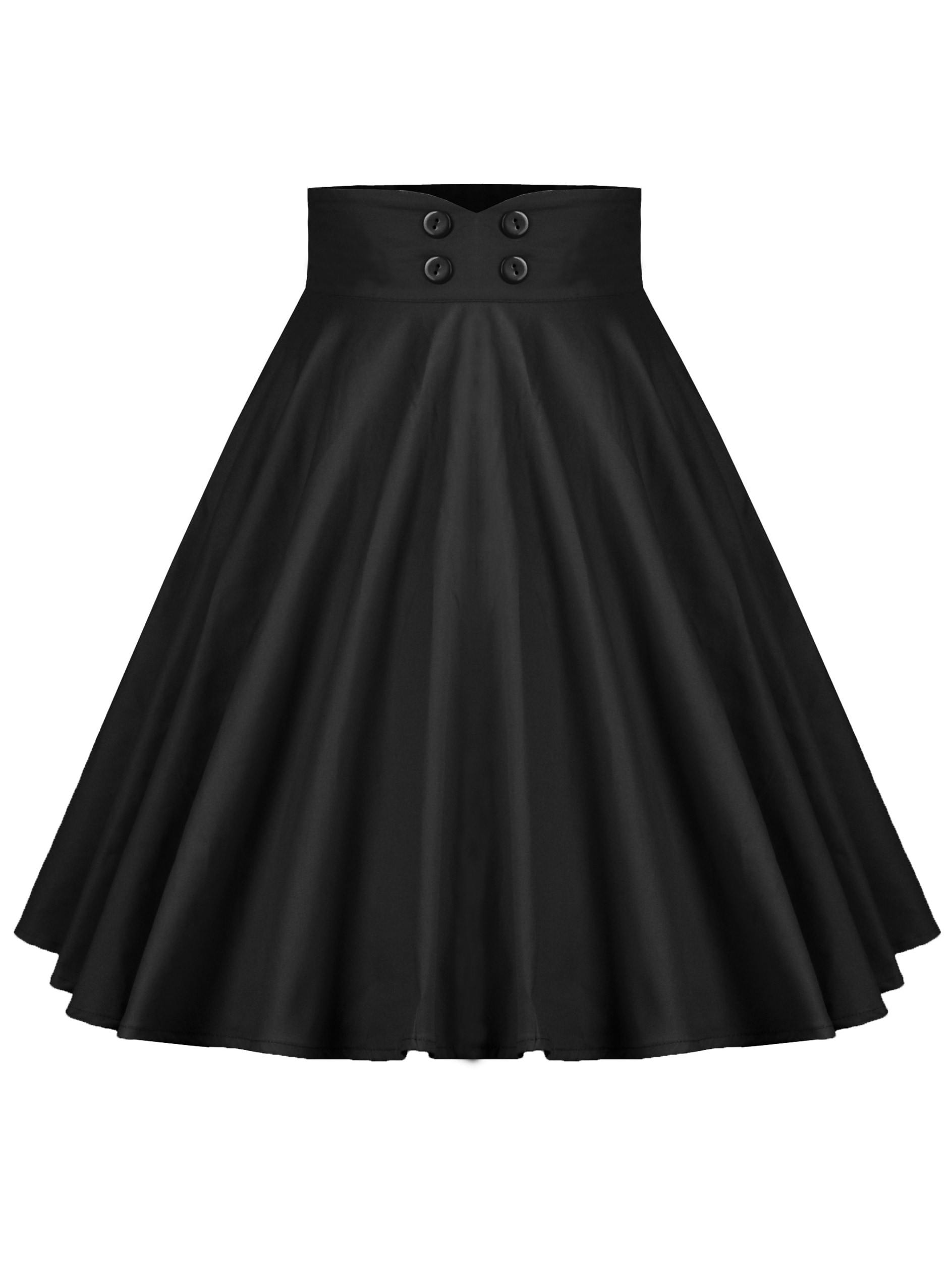 50s двубортная юбка-клёш с пуговицами на талии thumbnail