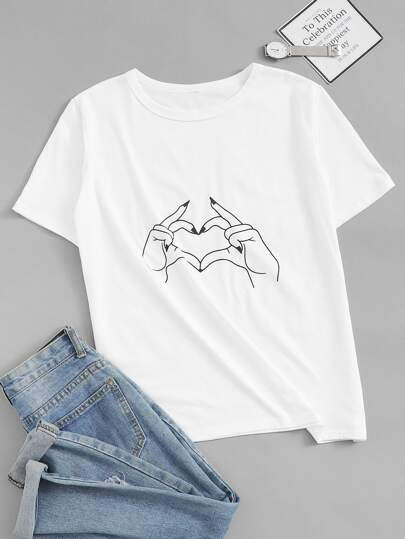 8bc06b67fdde5 T-shirts | T-shirts tendance pour femmes | SHEIN