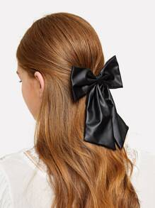 Plain Bow Decor Hair Tie