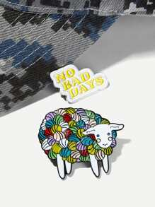 Sheep Design Brooch Set 2pcs