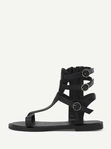 Buckle Decor Toe Post Sandals