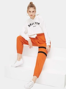 Varsity Stripe Pocket Detail Pants