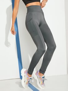 Dual Pocket Solid Leggings