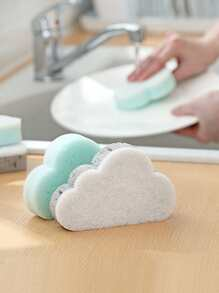 Random Color Cloud Cleaning Sponge 1pc