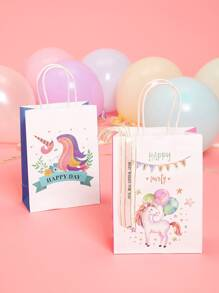Unicorn Print Storage Bag 2pcs