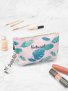 Palm Leaf Print Storage Bag
