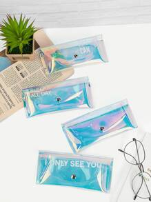Random Color Clear Glasses Case 1pc