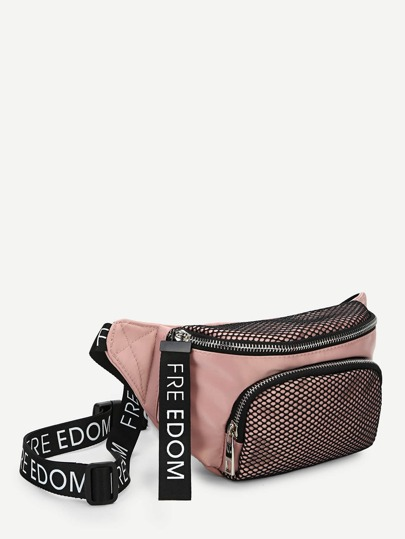 786c4784a08d Net Detail Pocket Front Bum Bag