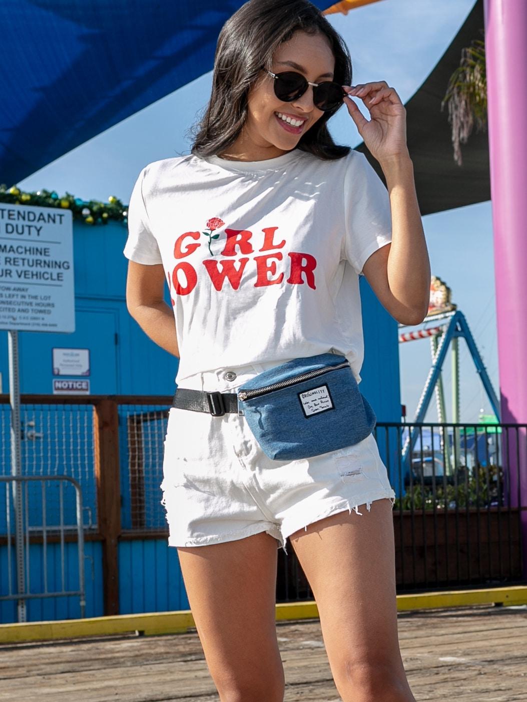1 Plus1 Girls Slogan & Floral Print Tee by Romwe
