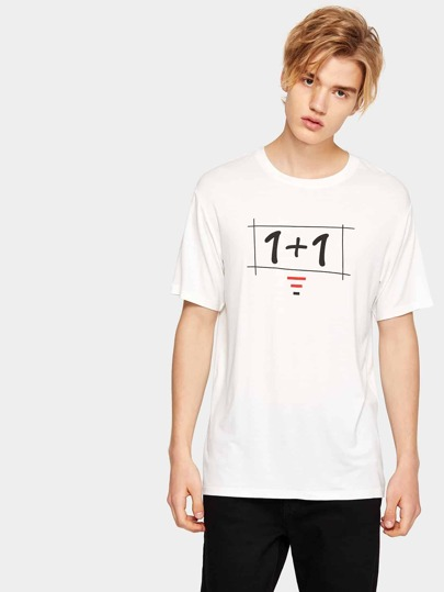 1Plus1 Guys Number Print Tee