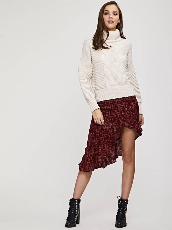 price reduced buy Good Prices Mini Spot Frill Midi Skirt