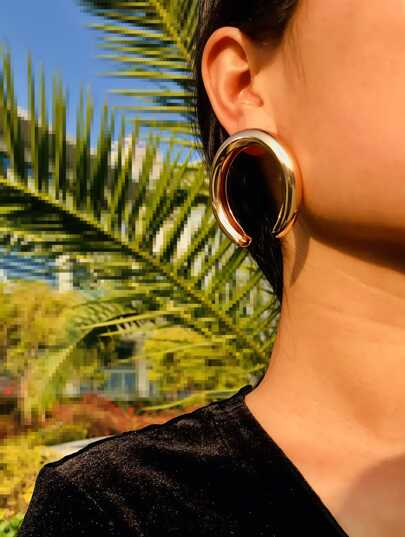 Cut Hoop Earrings 1pair
