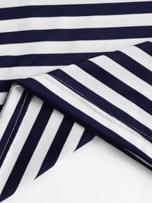 900ff1d827 Contrast Pocket Striped Ringer Tee | SHEIN UK