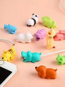 Random Animal Anti-break Cable Protector 1pc