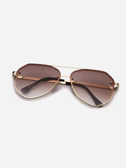 Guys Top Bar Tinted Lens Sunglasses