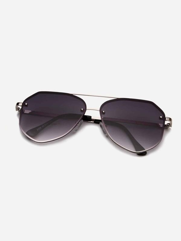 ebd74d31fe Men Top Bar Tinted Lens Sunglasses   SHEIN