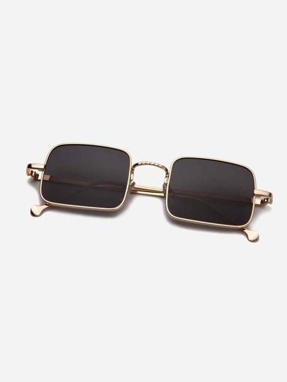 نظارات شمسية بعدسات مربع وبإطار معدني للرجال