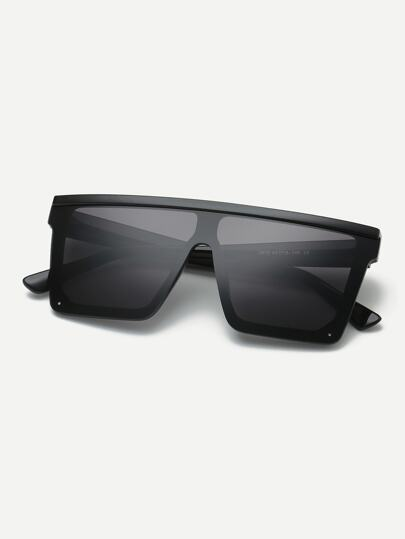 Guys Plain Frame Flat Top Sunglasses