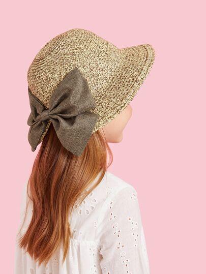 d9eafb071db77 Girls Bow Decor Cloche Hat