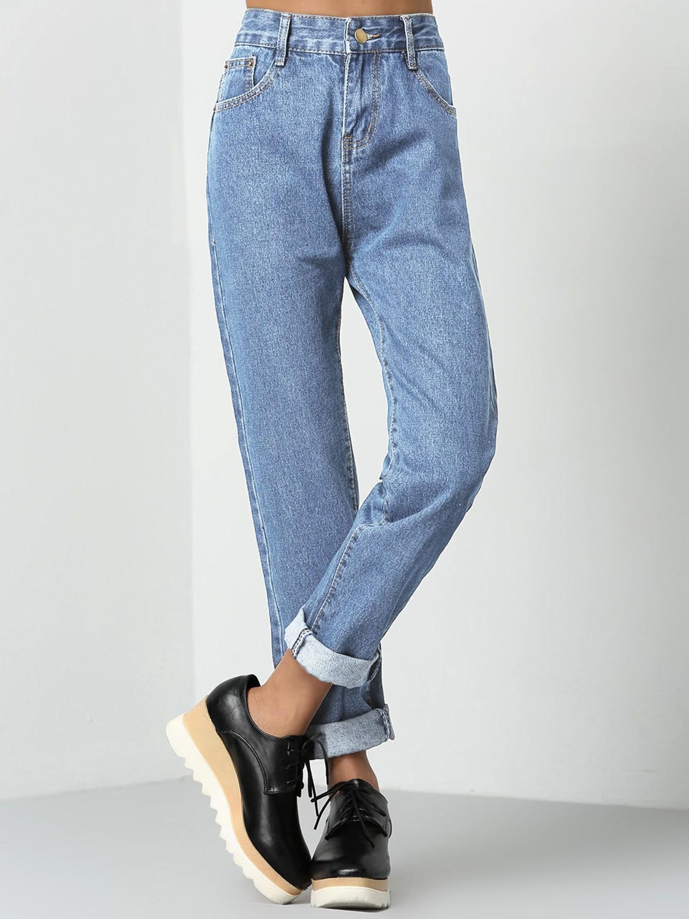 Vaqueros Mom Jeans Moda De Mujer Shein Mexico