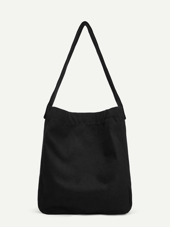 0b563d0d4d Plain Canvas Tote Bag | SHEIN