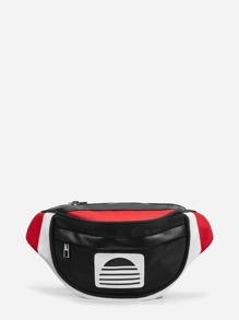 Color-Block Zipper Fanny Pack