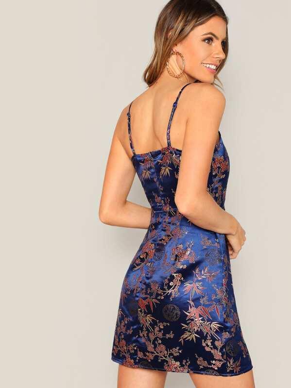 f7c38d4983d5 Cheap Floral Jacquard Satin Cami Dress for sale Australia | SHEIN