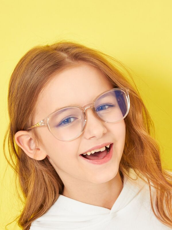 a096bf53876c Toddler Kids Metal Detail Transparent Frame Glasses | SHEIN