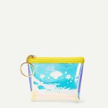 Clear Iridescent Zipper Purse (bag190122760) photo