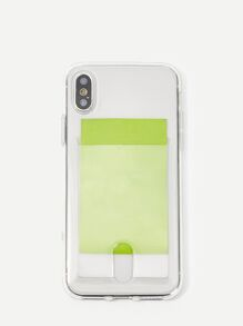 Transparent iPhone Case With Card Slot