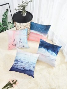 Sea Print Cushion Cover 1pc