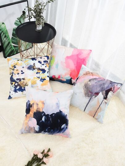 Watercolor Painting Cushion Cover 1pc