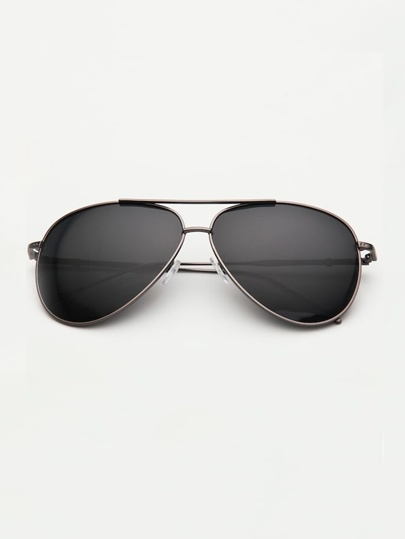 Guys Double Bridge Aviator Sunglasses