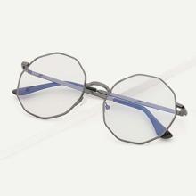 Men Polygon Lens Glasses
