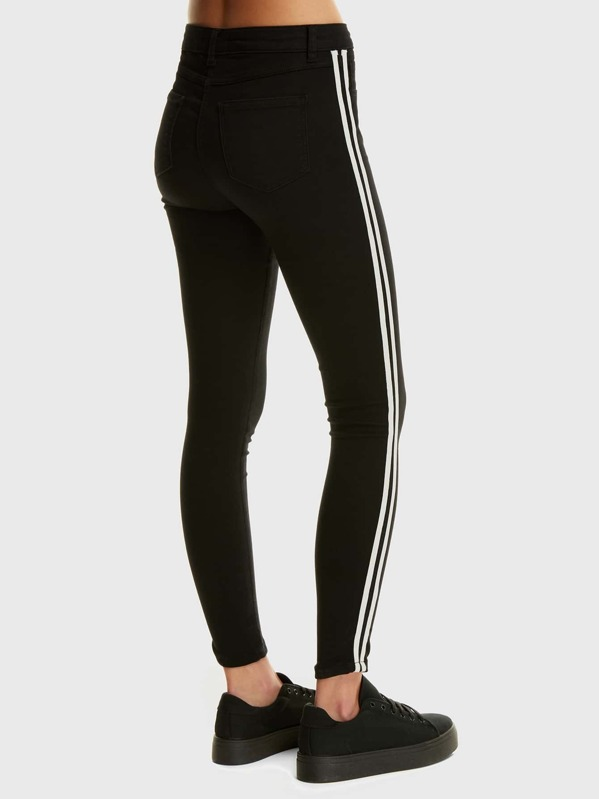 casual shoes crazy price how to buy Side Stripe Hight Waist Jeggings
