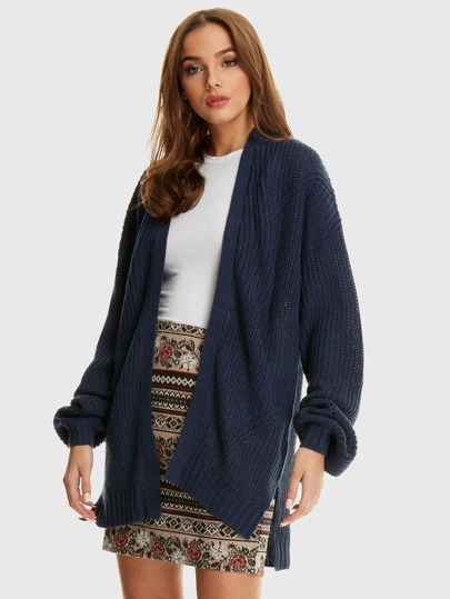 e7664e12781 Rib Edge To Edge Cardigan