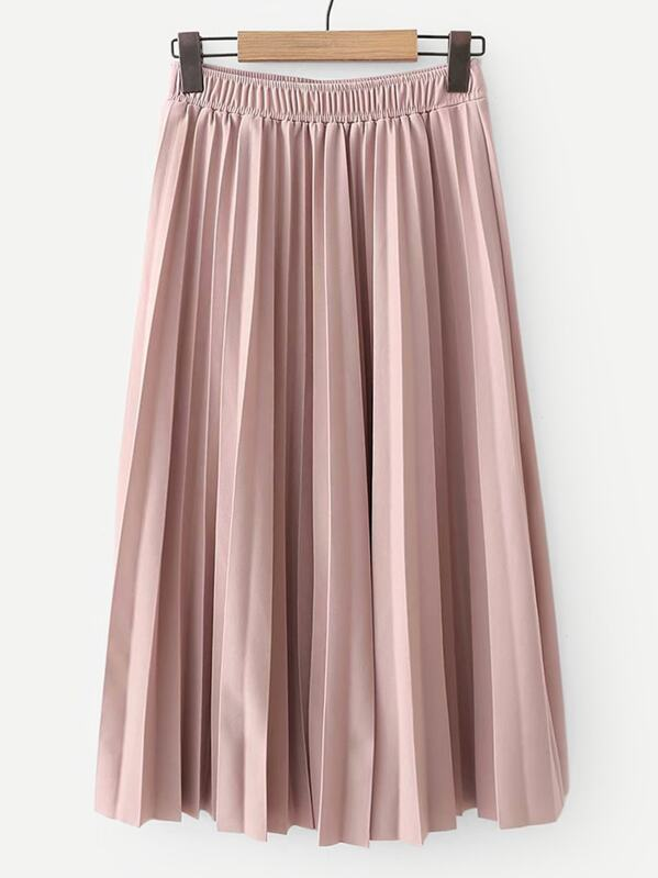 41e14fa53f Cheap Elastic Waist Solid Pleated Skirt for sale Australia | SHEIN