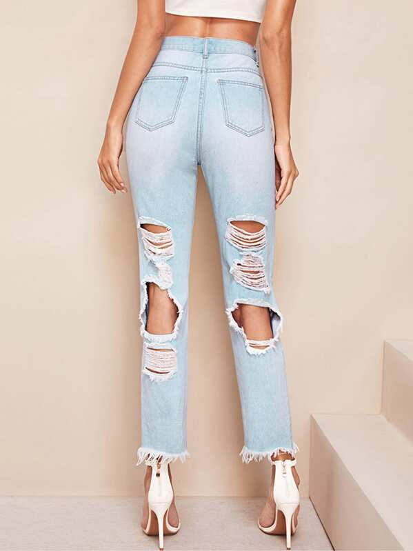 cheapest price special selection of a great variety of models Cut-out Ripped Jeans
