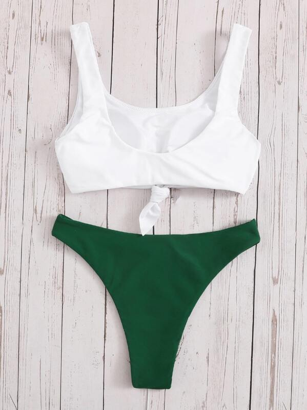 8c8670f0e9 Tropical & Letter Print Mix and Match Bikini   SHEIN UK