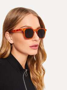 Two Tone Flat Lens Sunglasses