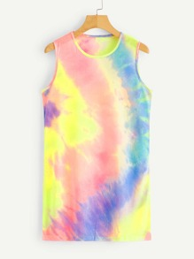 Tie Dye Sleeveless Dress