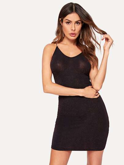 1284d7fb8086 Glitter Bodycon Cami Dress