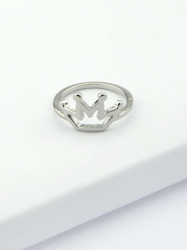 b32268c945 Cheap Silver Plated Simple Crown Ring for sale Australia   SHEIN