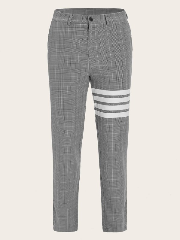 5aa7a922554 Men Striped Print Plaid Pants | SHEIN UK