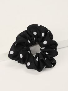 Chiffon Dot Pattern Hair Tie